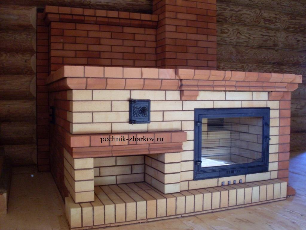 Фото дровяной печи с лежанкой и камином комплексные садовые барбекю